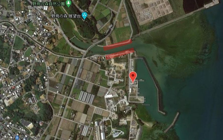 赤野漁港(天願川河口)-全体像
