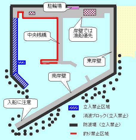 平塚新港-釣り可能エリア