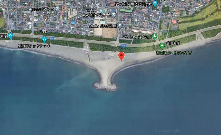 茅ヶ崎ヘッドランド(茅ヶ崎海岸)-全体像