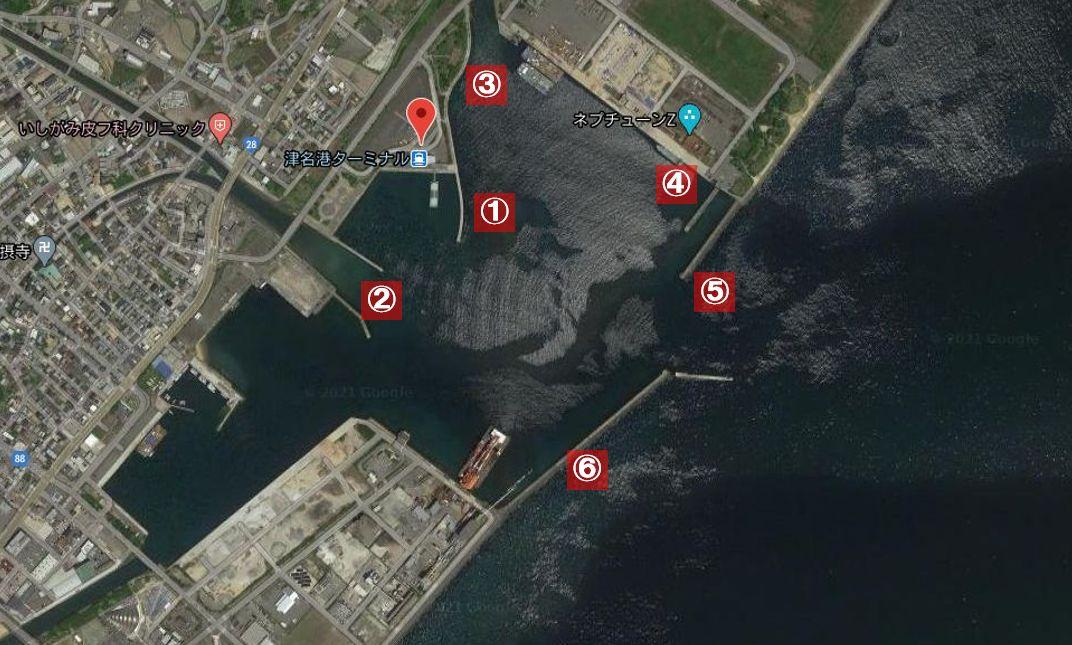 津名港の釣り場-全体像