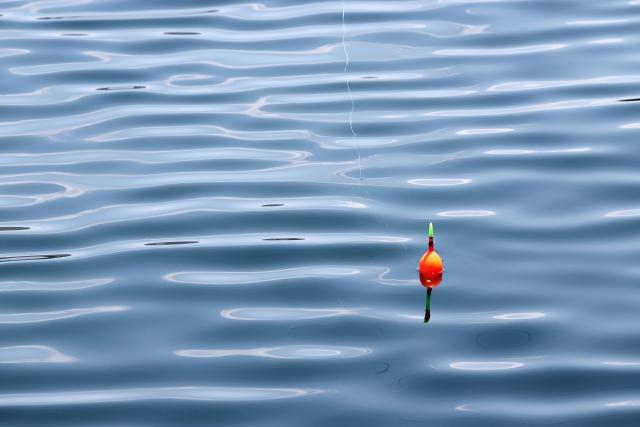 海に浮かぶウキ