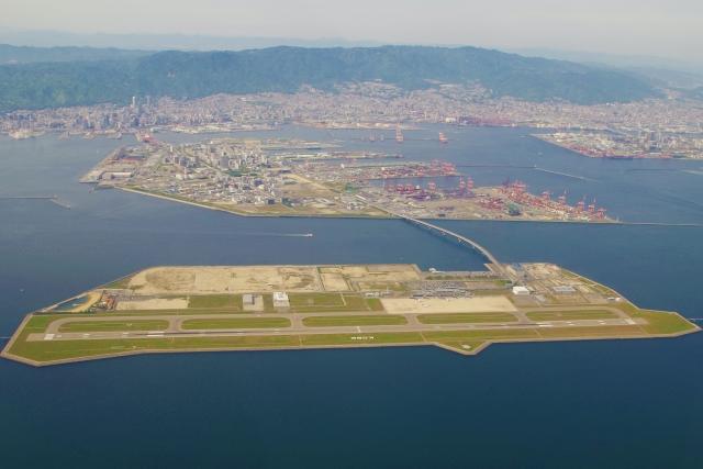 神戸空港の航空写真