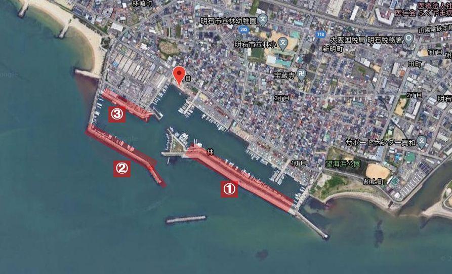 林崎漁港-釣り場の全体像