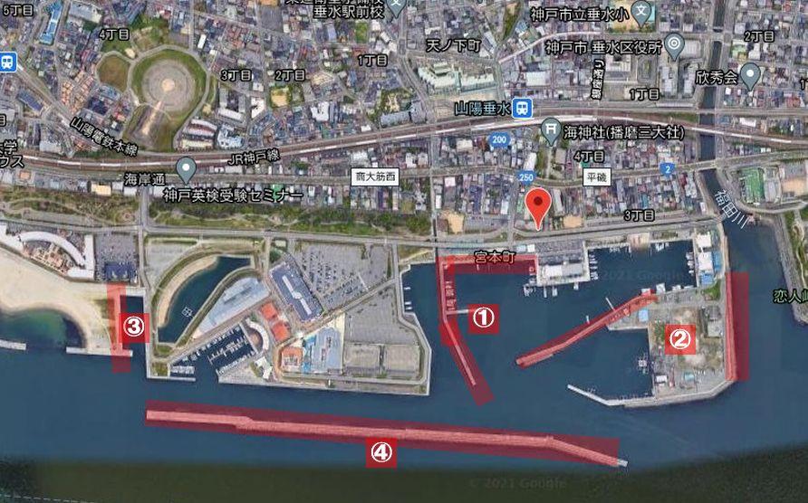 垂水漁港-釣り場の全体像