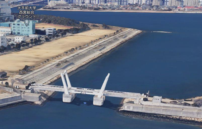 御前浜橋付近の釣り場