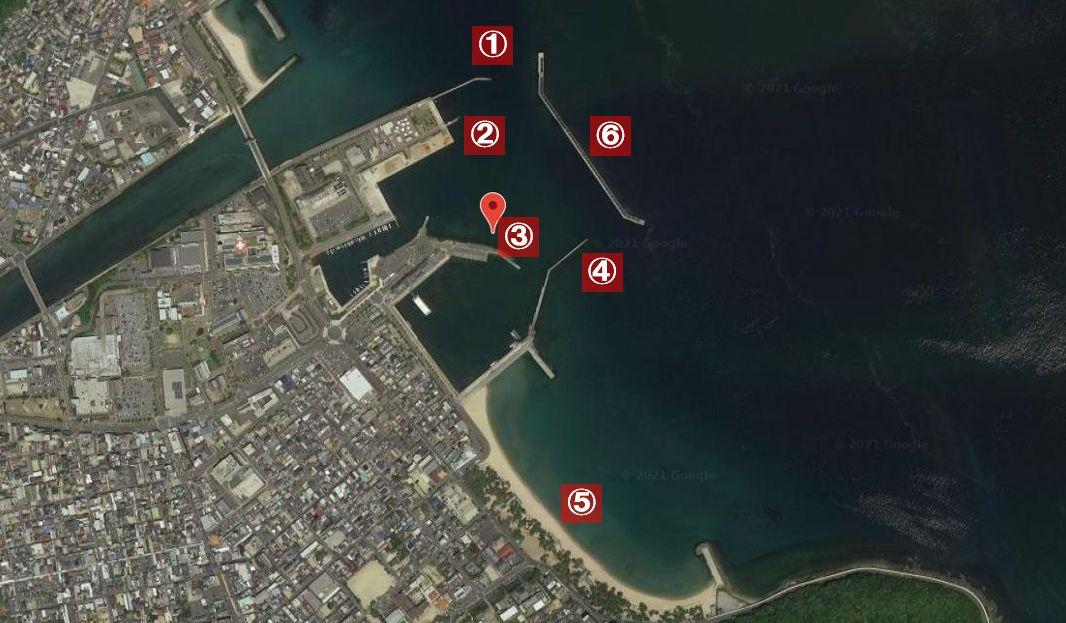 洲本港-釣り場の全体像