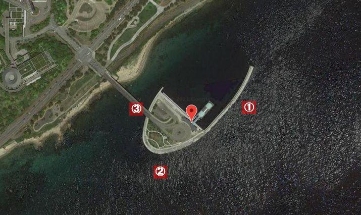 翼港-釣り場の全体像