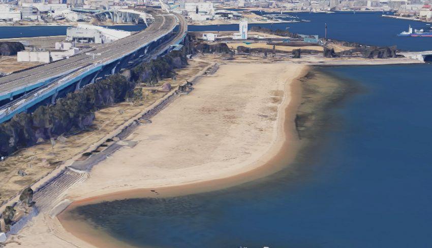 甲子園浜海浜公園の砂浜