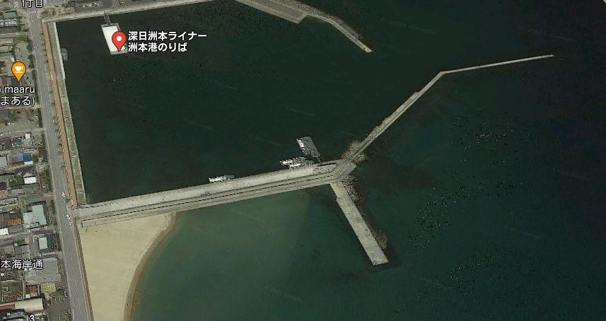 南側の防波堤(白灯台波止)