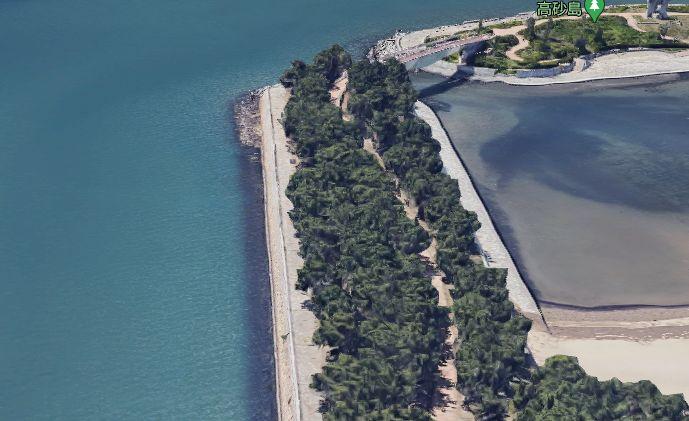 高砂海浜公園-加古川河口の護岸