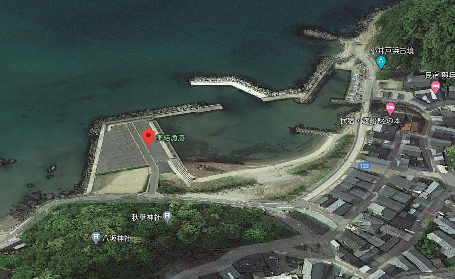 田結漁港-釣り場の全体像
