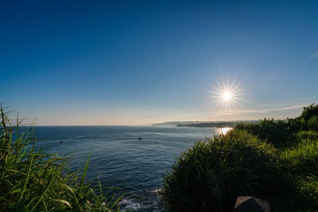 千葉県勝浦の海