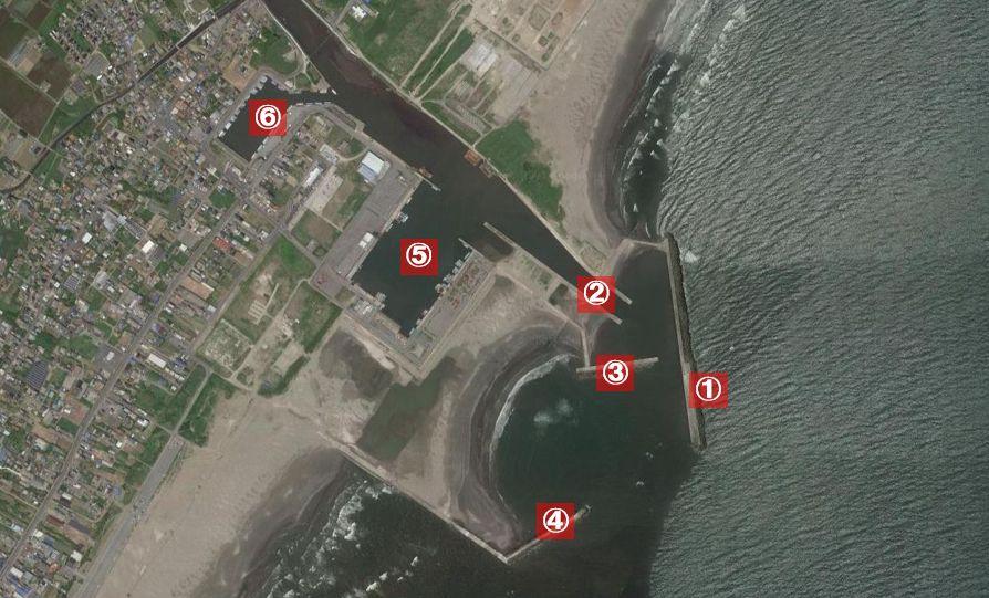 片貝漁港-釣り場の全体像