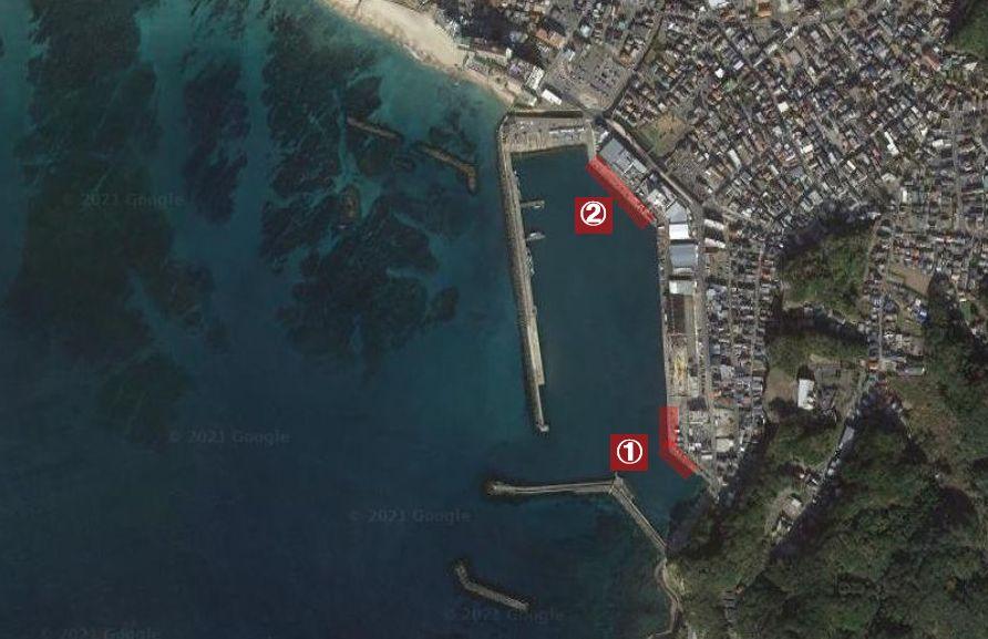 勝浦漁港-釣り場の全体像