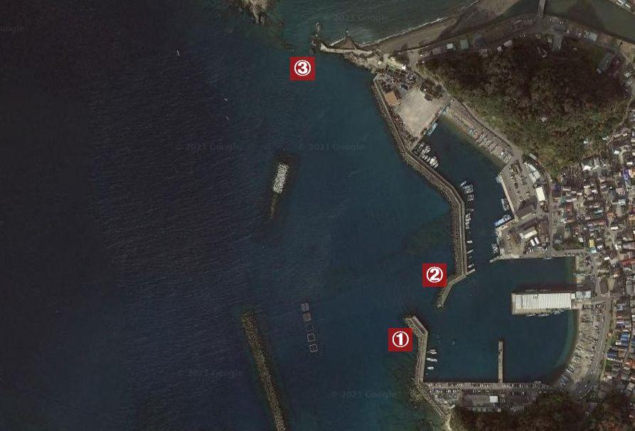 勝山港-釣り場の全体像