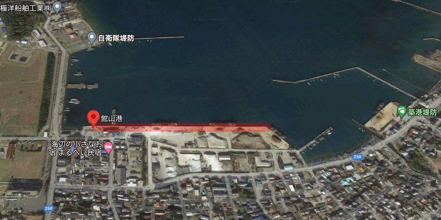 館山港-釣り場の全体像