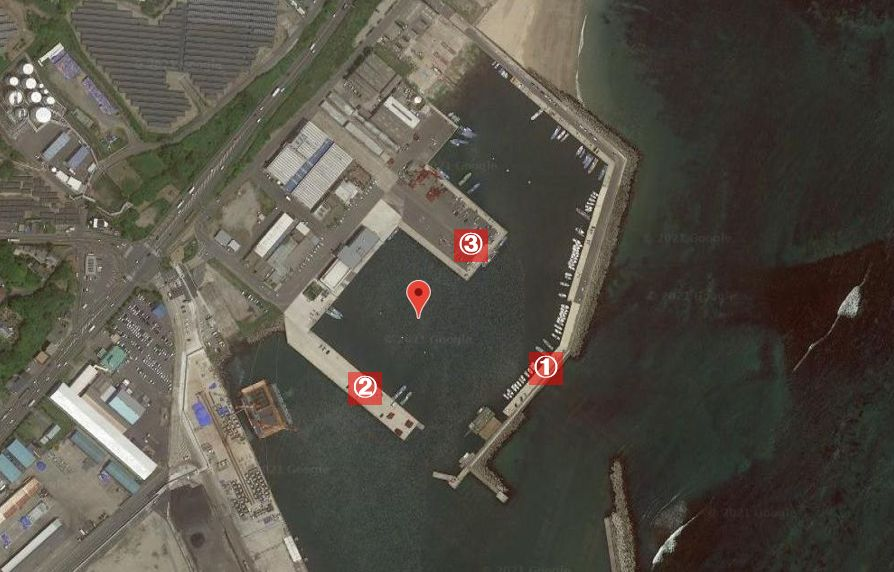 久慈港-釣り場の全体像