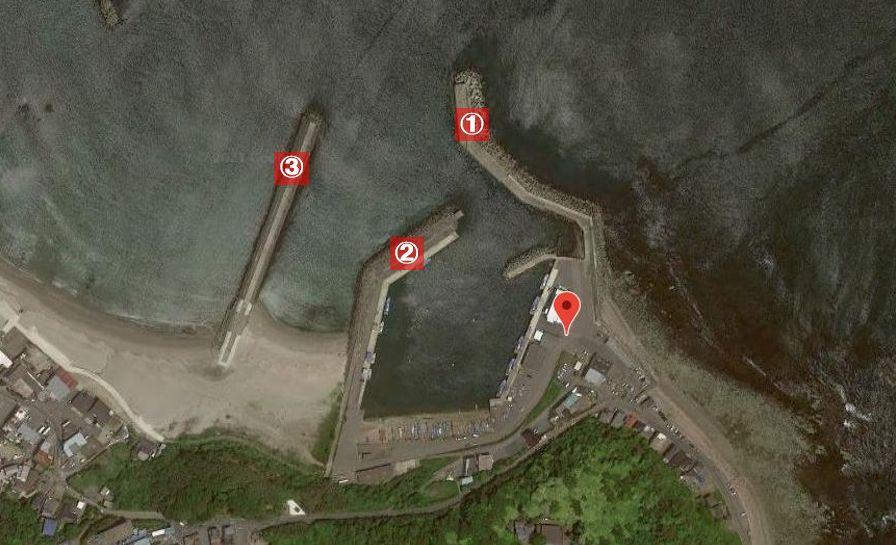 磯崎港-釣り場の全体像