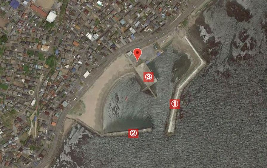 平磯港-釣り場の全体像
