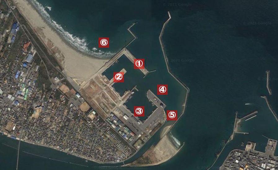 波崎新港-釣り場の全体像