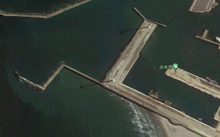 波崎新港-風車のある西堤防