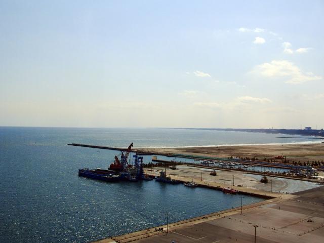 大洗マリンタワーから見た大洗港