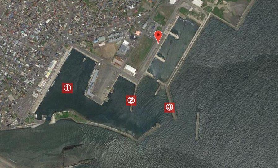 那珂湊港-釣り場の全体像