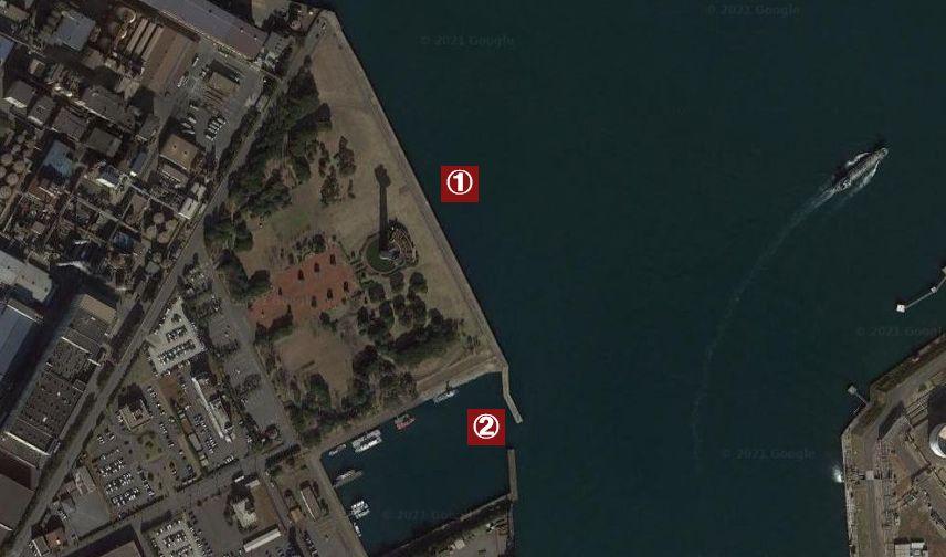 港公園(鹿島港)-釣り場の全体像