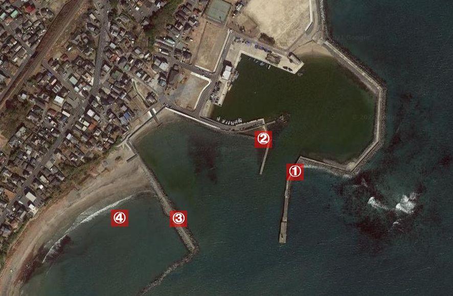 会瀬港-釣り場の全体像