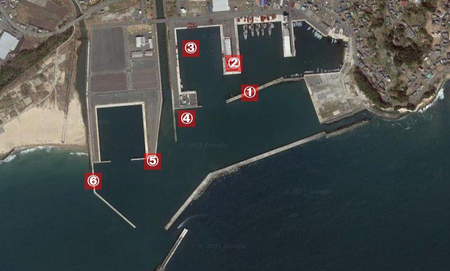 茨城-大津港-釣り場の全体像