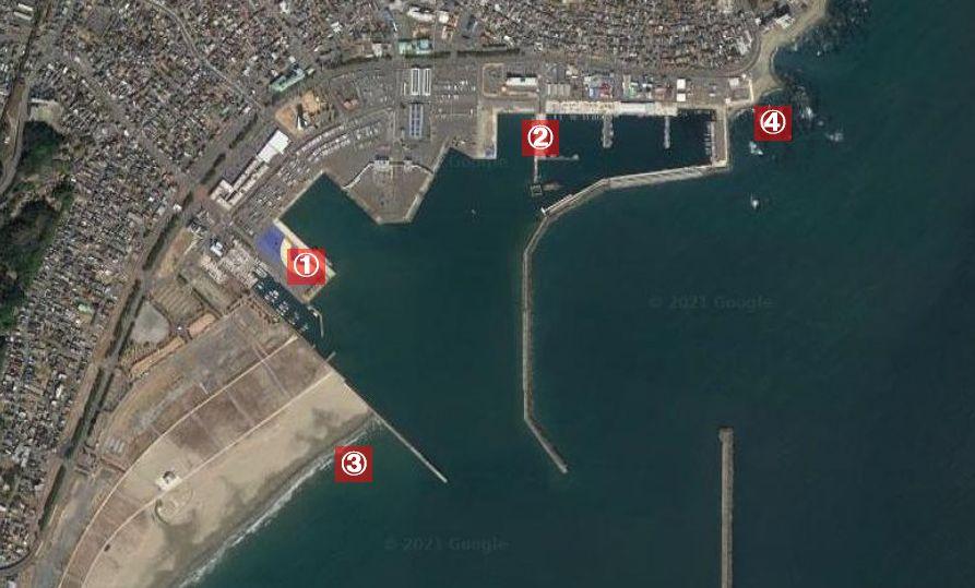 大洗港-釣り場の全体像