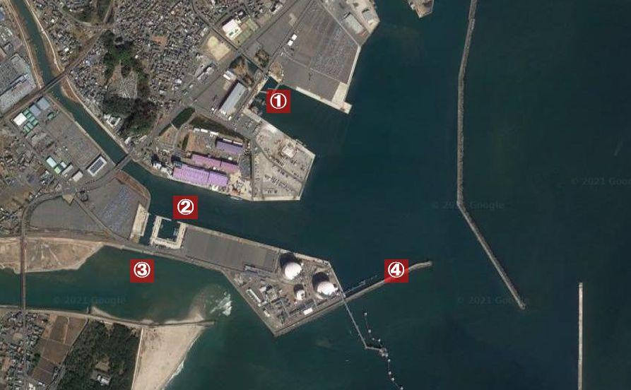 日立港-釣り場の全体像