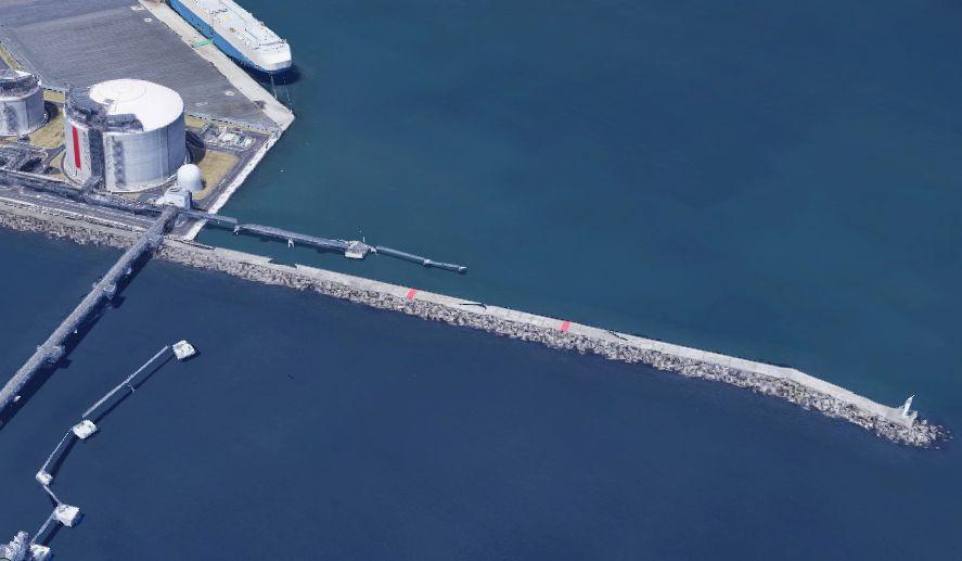日立港-第5埠頭の新防波堤