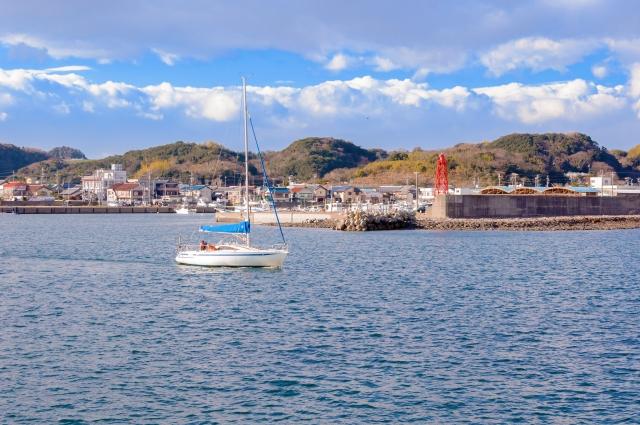 大井漁港の風景