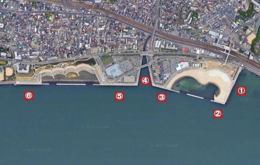 大蔵海岸-釣り場の全体像