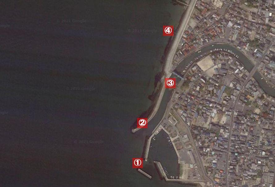 大野漁港-釣り場の全体像