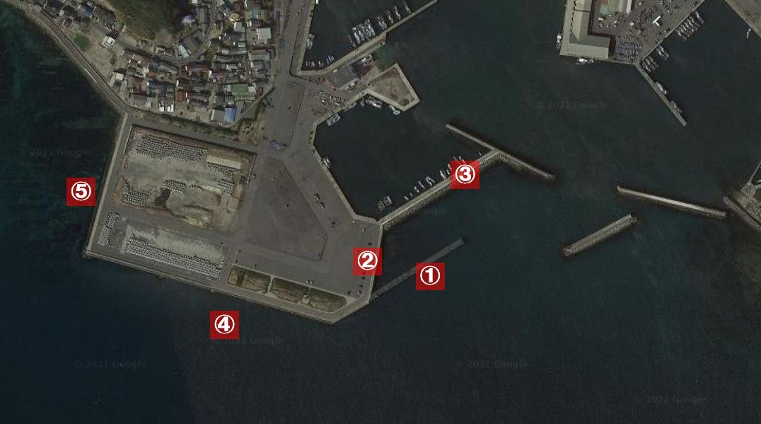 豊浜漁港-釣り場の全体像