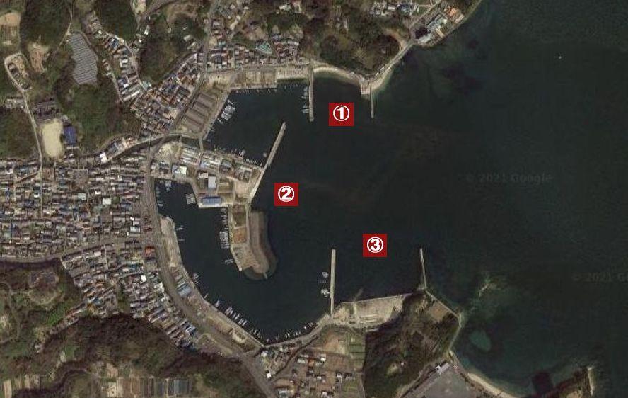 大井漁港-釣り場の全体像