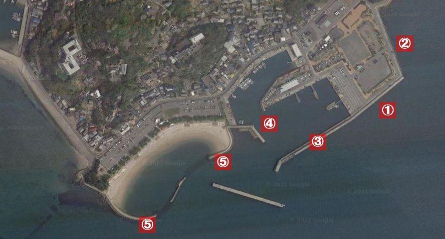 吉良サンライズパーク・宮崎漁港-釣り場の全体像