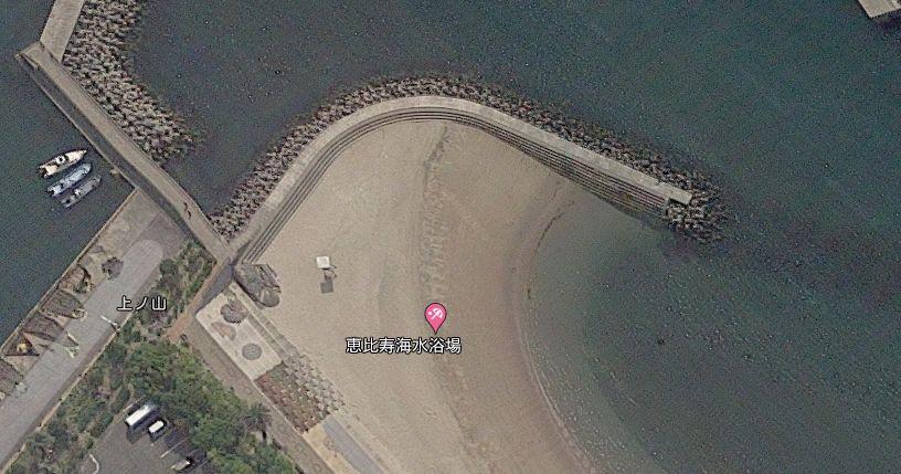 恵比寿海水浴場の防波堤