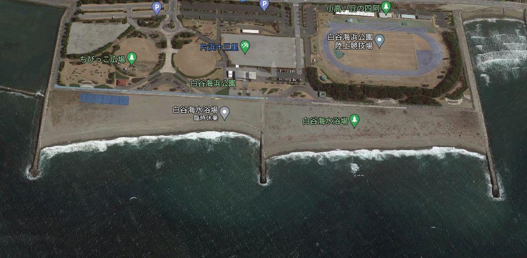 白谷海浜公園-釣り場の全体像