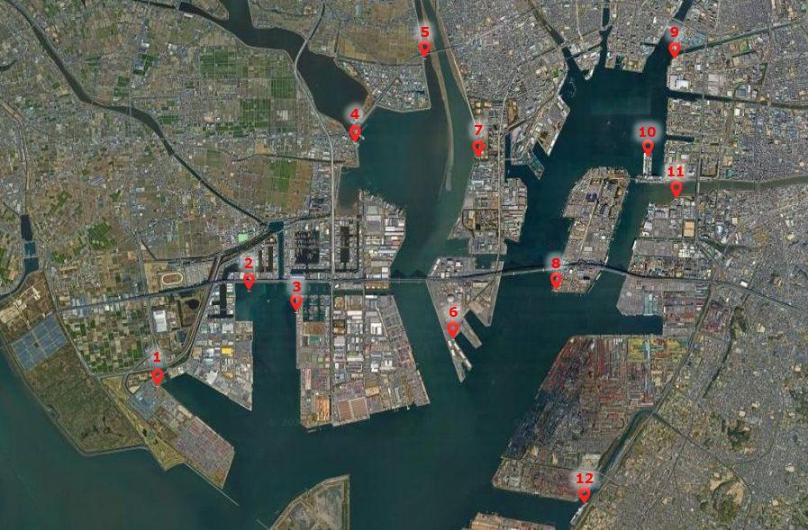 名古屋港-釣り場の全体像
