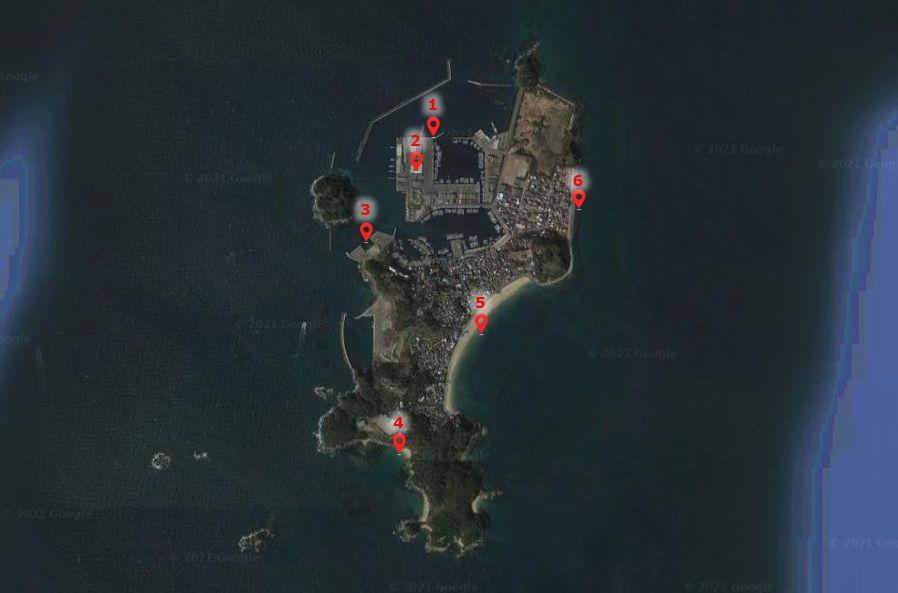 篠島-釣り場の全体像