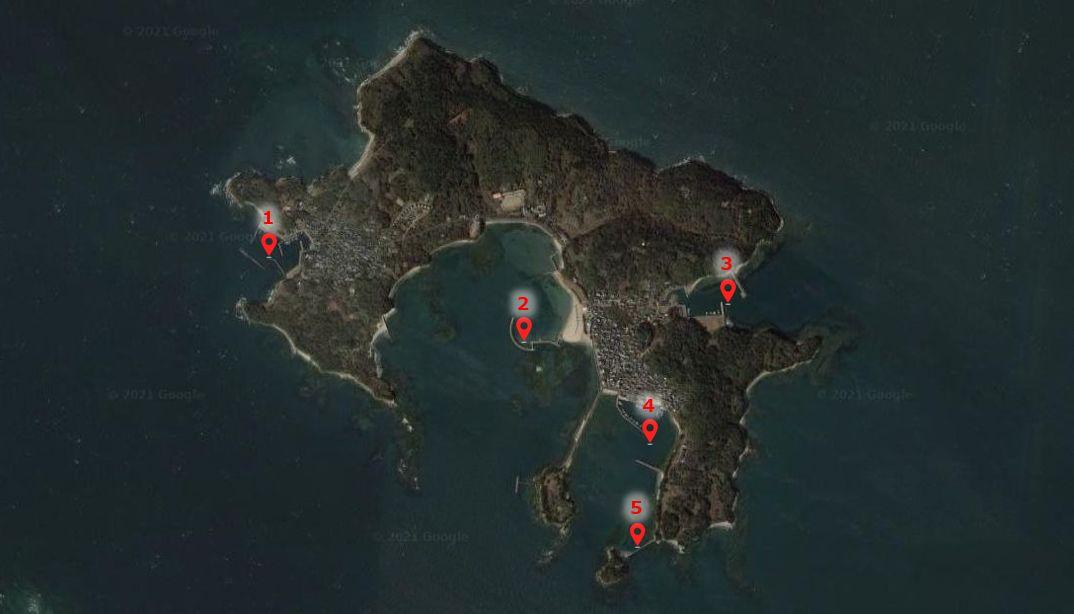 佐久島-釣り場の全体像