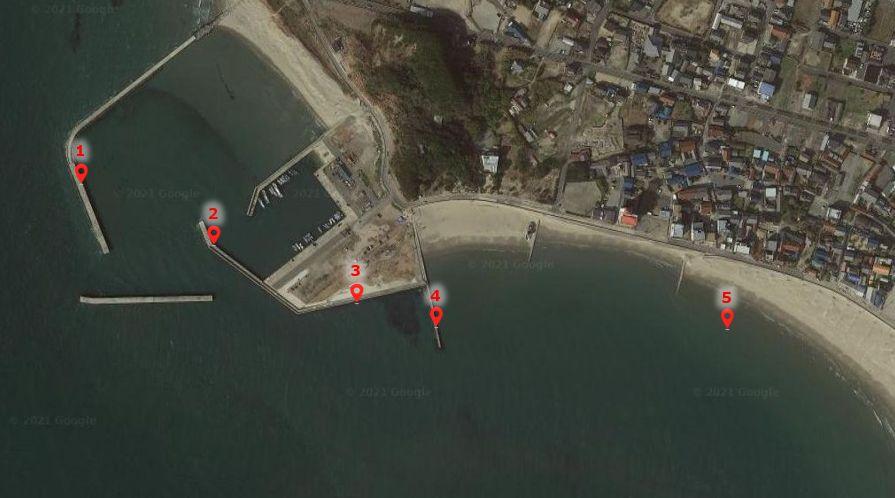 内海新港-釣り場の全体像