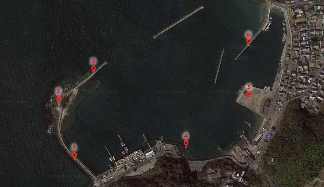 松島突堤(倉舞港)-釣り場の全体像