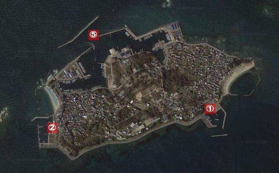 日間賀島-釣り場の全体像