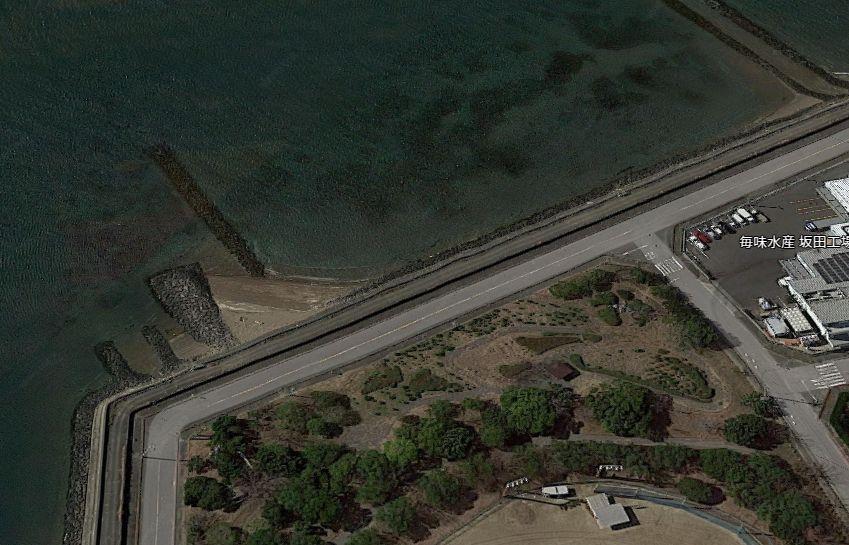 一色漁港-一色海浜公園の護岸