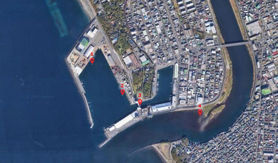 沼津港-釣り場の全体像