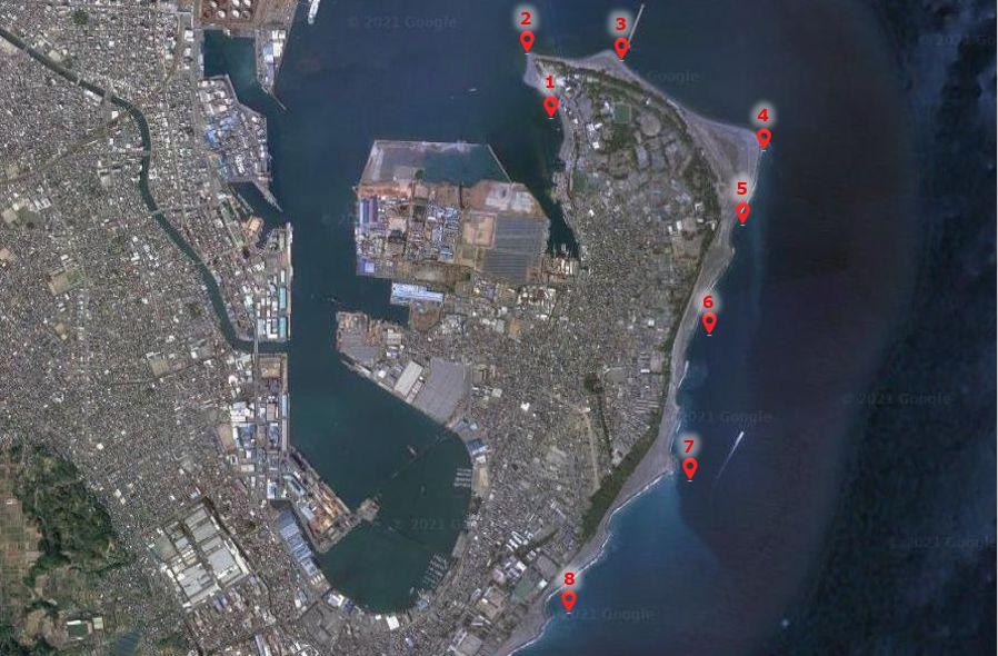 三保半島-釣り場の全体像
